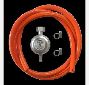 Набор для подключения оборудования к газовому баллону (редуктор 30 мбар и шланг 150 см)
