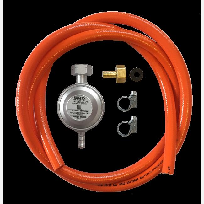 Набір для підключення обладнання до газового балона (редуктор 30 мбар, шланг 150 см і штуцер)